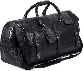 reisetasche leder schwarz Feynsinn Reisetasche echt Leder Phoenix XL groß Sporttasche groß Weekender Ledertasche Herren 60 cm schwarz