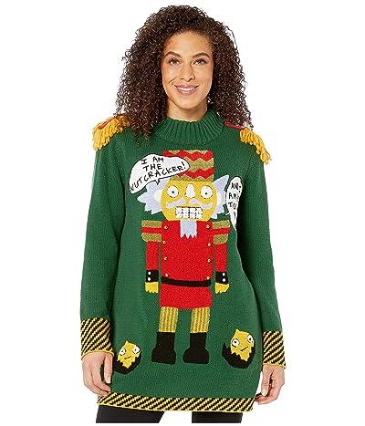 Whoopi Mr. Nutcracker Sweater (Dark Green) Women