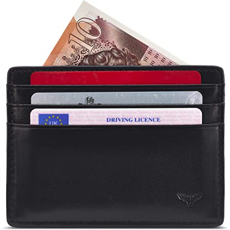 APRICOCO Minimalist Credit Card Holder RFID Blocking Slim Travel Wallet with 8 Slots for Credit Cards and Cash