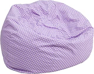 My Friendly Office MFO Small Lavender Dot Kids Bean Bag Chair