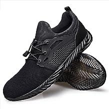 Hongchengye Steel-Toe Work Shoes Men Women Composite-Toe Indestructible Shoes