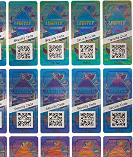 Legitly Hologram Security Stickers – Certificate of Authenticity Labels with Unique QR Codes and Serial Numbers Verify Originality of Sports Memorabilia, Electronics and Fashion (420 Stickers)