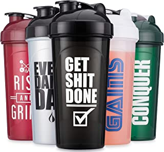 Hydra Cup - 5 Pack, OG Shaker Bottles 24oz Max Value Pack Shaker Cups, Stand Out Colors & Logos