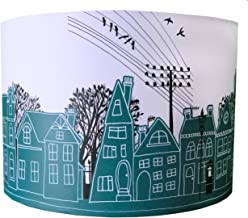 GREEN STREET LAMPSHADE by MOLLYMAC | Contemporary House Design | Street Scene | Home Sweet Home | 12