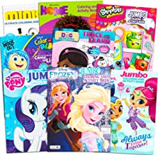 Coloring Books Bulk Assortment for Girls Kids Ages 4-8, Bundle Includes 8 Activity Books with Games, Puzzles, Mazes and Stickers