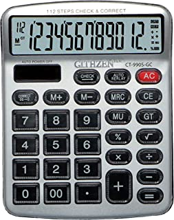 SaleOn™ Financial and Business Office Calculator with Large LCD Display and Acrylic Protected Mirror Buttons(Gold)-793