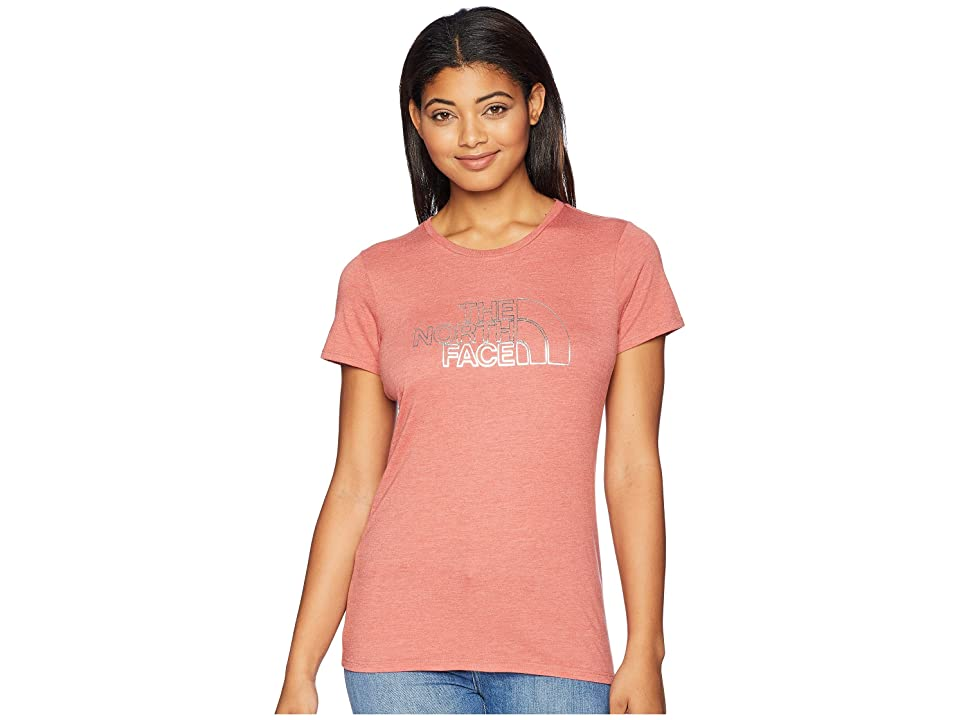 The North Face 1/2 Dome Tri-Blend Crew Tee (Faded Rose Heather/Silver Foil) Women