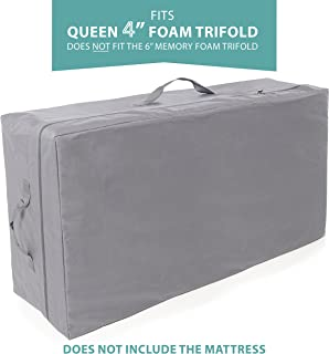 Carry Case for Milliard Tri-Fold Mattress 4 inch Queen (Does Not Fit 6 inch)