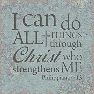 CB Gift Heartfelt Collection I Believe Inspirational Tabletop Plaque, Scripture, I Can Do All Things-Phililppians 4:13
