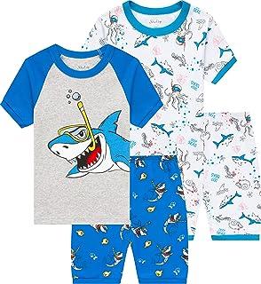 منامات أطفال شيري قطن ديناصور ملابس أطفال الأولاد الكرتون ملابس نوم طفل