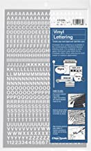 Chartpak Self-Adhesive Vinyl Capital Letters and Numbers, 1/4 Inches High, White, 610 per Pack (01006)