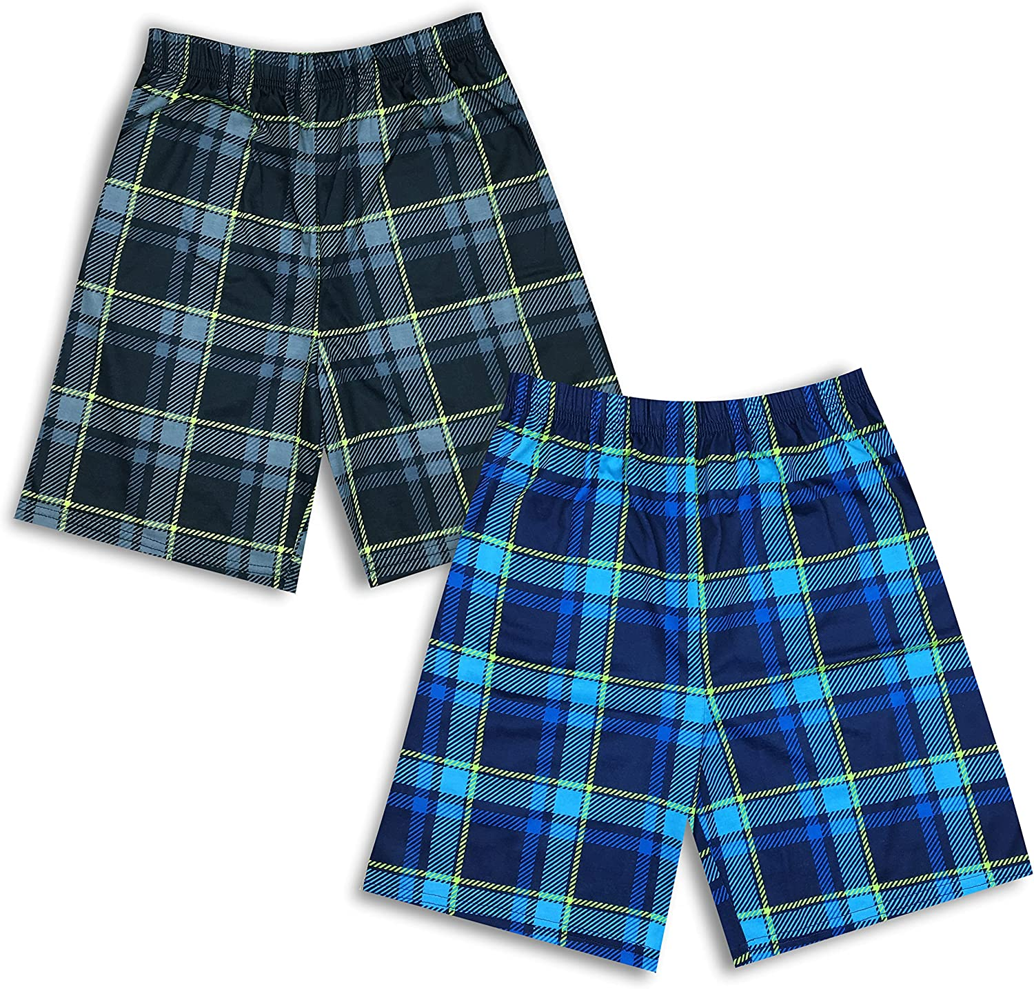 Mad Dog Concepts Boys Active Jersey Shorts, Gym Shorts, Sizes M-XL, 2 Pack