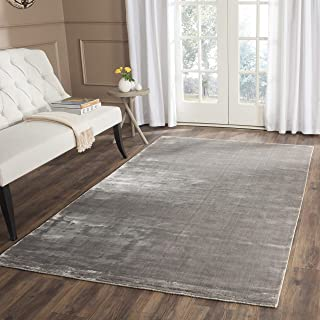 Safavieh Mirage Collection MIR344R Hand-Knotted Steel Wool Area Rug (8' x 10')
