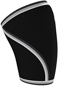 Knee Sleeves (1 Pair) Support & Compression for Weightlifting, Powerlifting & Cross Training - 7mm Neoprene Sleeve fo...