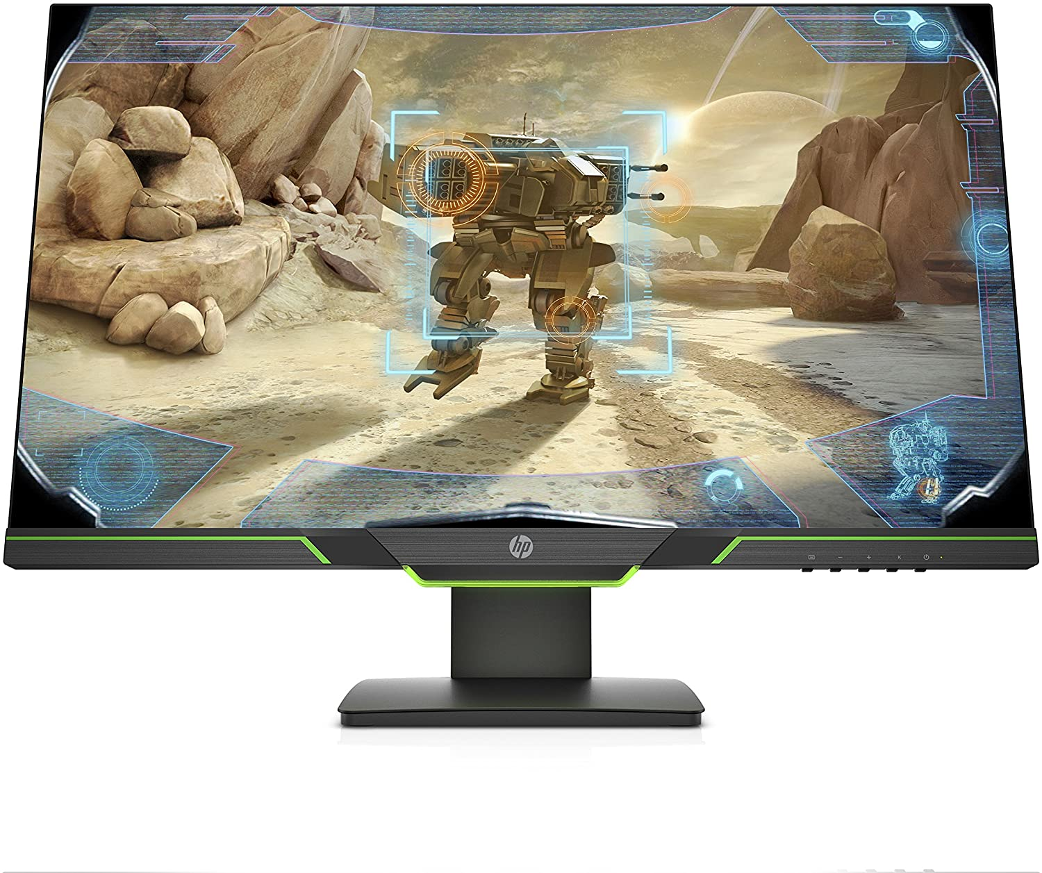 HP 27xq 27-inch QHD 1440p 144Hz 1ms Gaming Monitor with AMD FreeSync, Ambient Lighting, Height/Tilt Adjustable, and Narrow Bezel (5SQ42AA#ABA), Black