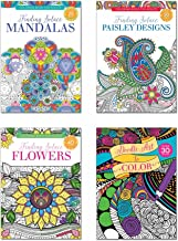 B-THERE Adult Coloring Books - Set of 4 Coloring Books, Over 125 Different Designs Combined! Mandala Coloring Books for Ad...