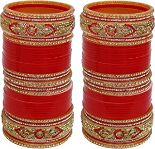2.4 S Bollywood Bangles Bracelet Indian Punjabi Bridal Jewellery Chura Red D8 Year-End Bargain Sale Jewelry & Watches