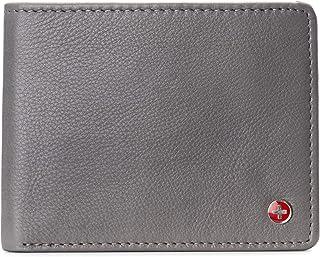 Alpine Swiss Men's RFID Connor Passcase Bifold Wallet Leather York Collection