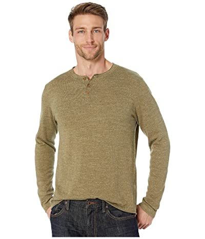 Lucky Brand Welter Weight Henley (Heather Olive) Men