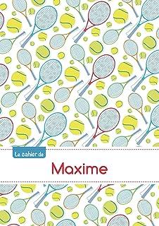 CAHIER MAXIME SEYES,96P,A5 TENNIS