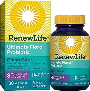 Renew Life Ultimate Flora Colon Care Probiotic 80 Billion (formerly Critical Colon), 30 Count