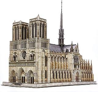 CubicFun Puzzle 3D de Construction France - Notre-Dame de Paris (Grand) Kits de Modèle Architectural de l'église Gothique,...