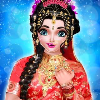 Royal Indian Wedding Bride Dress up and Makeup