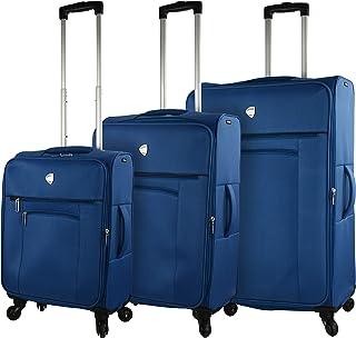 مجموعة حقائب الأمتعة الدوارة جانالاتي جلورينزا هاردسايد من ميا تورو، لون أزرق