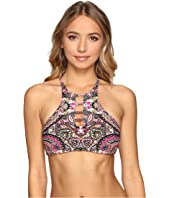 Lucky Brand - Tapestry Reversible High Neck Top
