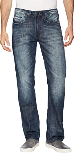 Six Straight Leg Jeans in Whiskered and Sanded