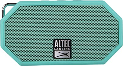 Altec Lansing Mini H2O -  Wireless, Bluetooth, Waterproof Speaker, Floating, IP67, Portable Speaker, Strong Bass, Rich Stereo System, Microphone, 30 ft Range, Lightweight, 6-Hour Battery, (Mint)