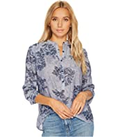 Lucky Brand - Floral Chambray Top