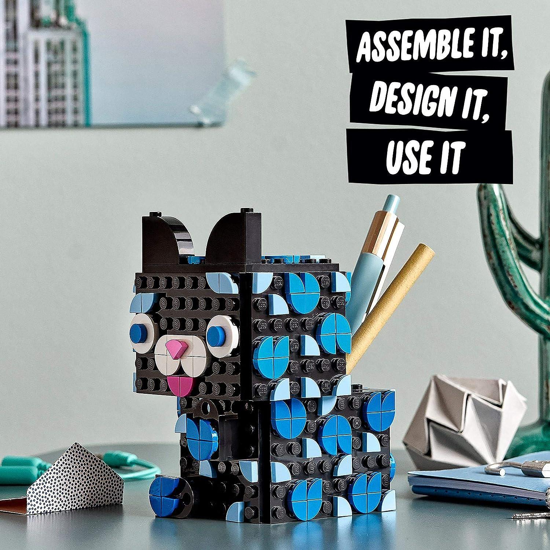 LEGO 20 DOTS Secret Holder Cat Box, Room Accessories & Desk Décor Ideas,  DIY Arts and Crafts for Kids