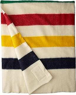Hudson Bay 8 Point Blanket Natural with Multi Stripes