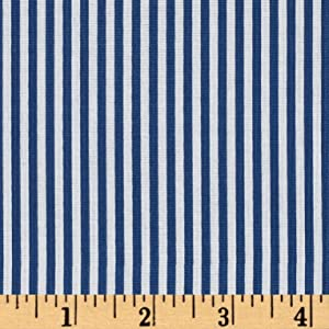 Riley Blake Designs Riley Blake 1/8in Stripes Denim Fabric by The Yard,
