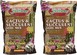 Hoffman 10410 Organic Cactus and Succulent Soil Mix, 10 Quarts (1, 2-Pack)