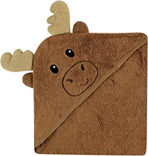 Luvable Friends Animal Face Hooded Towel, Moose