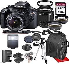 Canon Rebel T100 w/Canon EF-S 18-55mm F/3.5-5.6 III Zoom Lens & Professional Accessory Bundle W/...