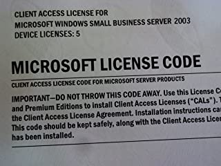 Microsoft Windows Small Business Server CAL 2003 License Pack Transition Pack Device CAL [Old Version]