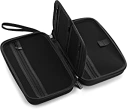 "Caseling Universal Electronics/Accessories Hard Travel Organizer Carrying Case Bag, 9.8"" x 5.6""x 2.8"" - Black"