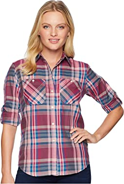 Petite Plaid Cotton-Twill Shirt