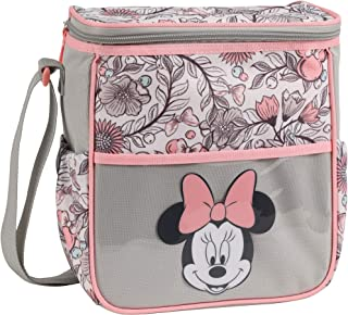 Disney Minnie Mouse Mini Diaper Bag, Floral Print, Grey
