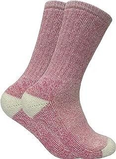 2 pares mujer calientes invierno lana senderismo trekking calcetines en 4 colores