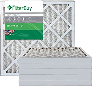FilterBuy 24x24x2 MERV 8 Pleated AC Furnace Air Filter, (Pack of 6 Filters), 24x24x2 – Silver