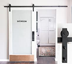 6-Foot 7-Inch Heavy Duty Sliding Barn Door Hardware Kit (Black) Includes Easy Step-By-Step Installation Video Superior Quality, One-Piece Rail Ultra Quiet, Tested Beyond 100,000 Rolls