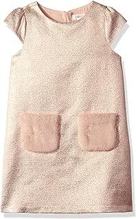 Girls' Big Short Sleeve Dressy Woven Dress