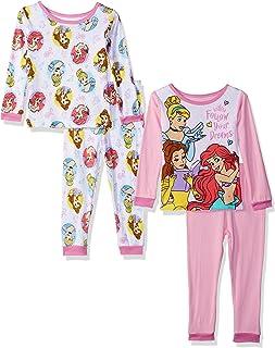 Disney - Juego de Pijama de 4 Piezas, diseño de Princesas