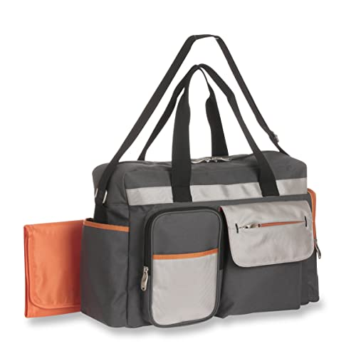 Graco Tangerine Smart Organizer System - Large Diaper Duffel Bag Organizer - Roomy, Duffel with