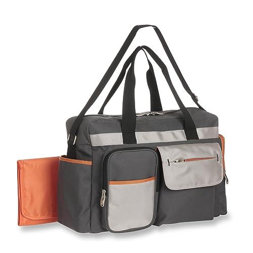 Graco Tangerine Smart Organizer System - Large Diaper Duffel Bag Organizer - Roomy, Duffel with