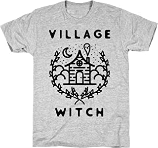 LookHUMAN Village Witch Athletic Gray Men's Cotton Tee